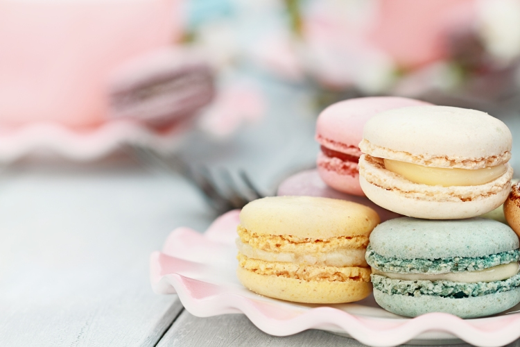 Sweet Pastel Colored Macarons